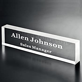 Amazon Com Office Desk Name Plate 1 2 Quot Glass Like