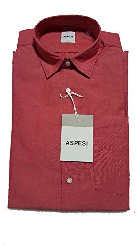 ASPESI camicia uomo mod RIDOTTA II ROSSA 100 % cotone