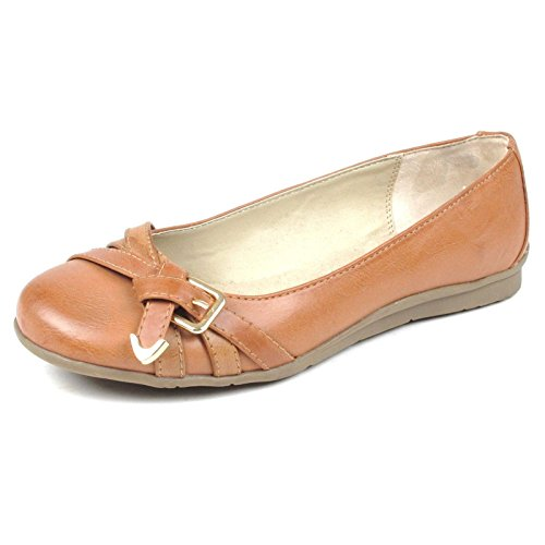 MIA Womens Alisa Flat Shoe (Nude, - Brown Round Nude And