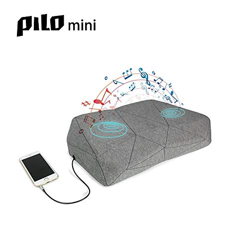 PILO Mini - Ergonomic Smart Music Pillow, Orthopedic Contour Neck Pillow of Memory Foam & Bamboo Charcoal, Sound Therapy Pillow with Binaural Speakers, White Noice & Nature Themed Sound Sleep-Aid