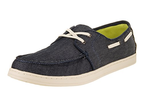 Lace Lace Up Boat Shoes - TOMS Men's Culver Lace-Up Navy Denim Casual Boat Shoes (9)