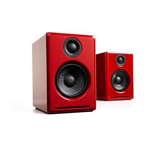 Audioengine A2+ Limited Edition Premium Powered Desktop Speaker Package (Red) With DS1 Desktop Speaker Stands by Audioengine (Image #5)