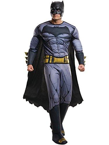 Rubie's Men's Batman v Superman: Dawn of Justice Deluxe Batman Costume, Multi, One -