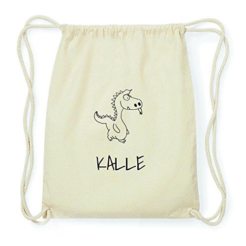 JOllipets KALLE Hipster Turnbeutel Tasche Rucksack aus Baumwolle Design: Drache Bk7tp