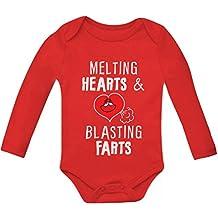 Melting Hearts & Blasting Farts Funny Bodysuit Cute Baby Long Sleeve Onesie