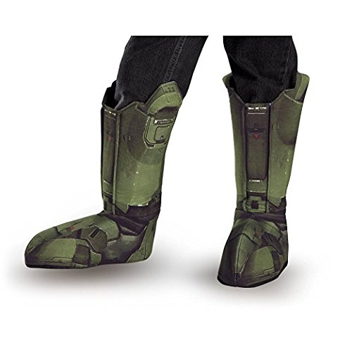 Disguise Men's Master Chief Adult Costume Boot Covers, Green, One (Master Chief Halo Adult Mens Costumes)