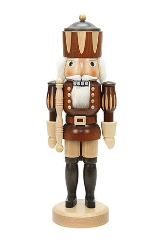 - German Christmas Nutcracker King natural colors - 38,5 cm / 15 inch - Christian Ulbricht