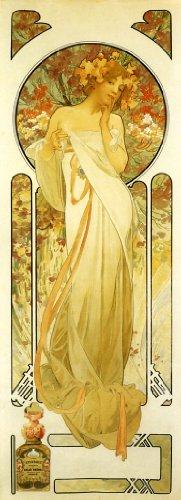 (1899 Flowers Lady Sylvanis Essence Perfume By Alphonse Mucha Was a Czech Art Nouveau Painter and Decorative Artist 6