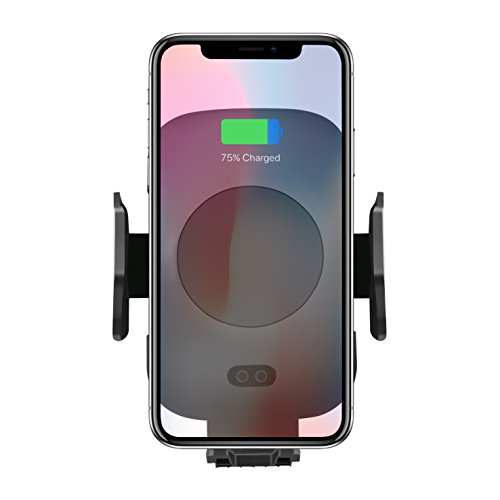 Wireless Car Charger Mount Holder for Cell Phone - Automatic Infrared Sensor Built-in to Open/Close Grip - iPhone 8/8 Plus/iPhoneX/Samsung S9/S9+/Note8/S8+/S8/Note5/S7 Edge/S7/S6 Edge Plus/S6 Edge