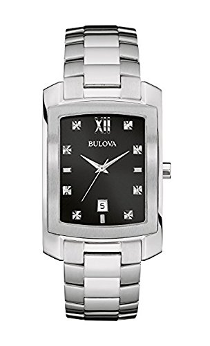 Bulova Men's Quartz Watch with Stainless-Steel Strap, Silver, 20 (Model: 96D125) ()