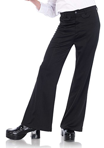 Leg Avenue Men's Bell Bottom Disco 70s Pants, black Medium/Large -