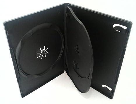 50 estuches negros para DVD con 3 bandejas