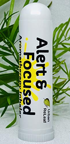 Urban ReLeaf Alert & Focused Aromatherapy Inhaler! Wake Up & Concentrate. 100% Natural Drug-Free Alternative. Bright Botanical Blend! Helps Studying, Work, Driving. Energizing Scent! ()