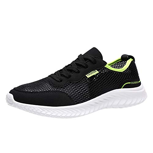 JUSTWIN Couples Wild Mesh Breathable Outdoor Sneakers Trend Outdoor Sport Running Shoes Beach Shoes Black ()