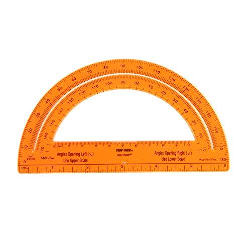 hand2mind Orange Safe-T Protractors, Set of 24