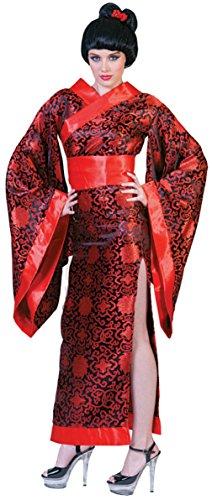 Funny Fashions Womens Asian Kim Kimono Geisha Japanese Robe Adults Fancy Costume, M (10-12)