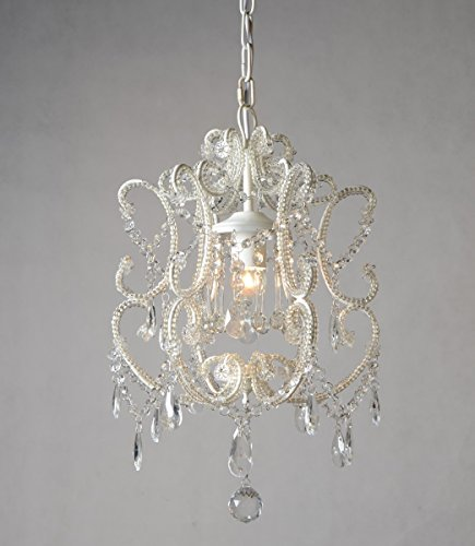 KAI MINI WHITE CRYSTAL 1 LIGHT (Boutique Mini Chandeliers Light)