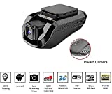 Dash Cam Car Video Recorders – Amacam AM-G10 with 3G GPS Live Video Streaming to Your Phone. Front Facing & Internal Views. Monitor Your Vehicle in Real Time from Any Location. 16GB Card Included.