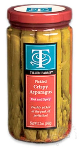 Tillen Farms Pickled Spicy Asparagus, 12-Ounce Bottles (Pack of 6)