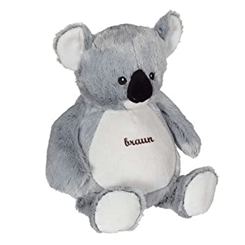 Koala de peluche con nombre bordado en color marrón