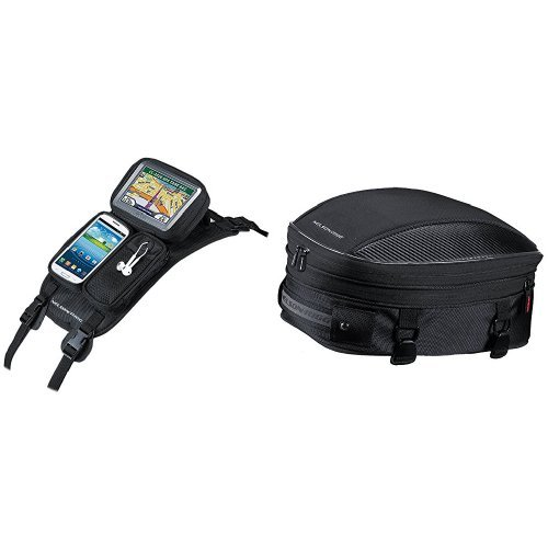Nelson Rigg Strap Mount Tank - Nelson-Rigg CL-GPS-ST Black Strap Mount Journey GPS Mate and  CL-1060-S Black Sport Tail/Seat Pack Bundle