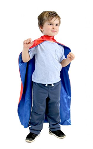 Price comparison product image Reversible Child Red and Blue Superhero Costume Cape (Child)