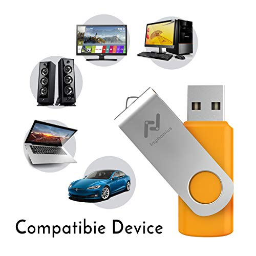 Flash Drives 16GB 10 Pack in Bulk USB 2.0 Thumb Drive 16 GB Jump Drive Memory Drive Zip Drive with LED Light for Storage by Imphomius - 10Pack,Multicoloured by Rhapsody & Mogan (Image #6)
