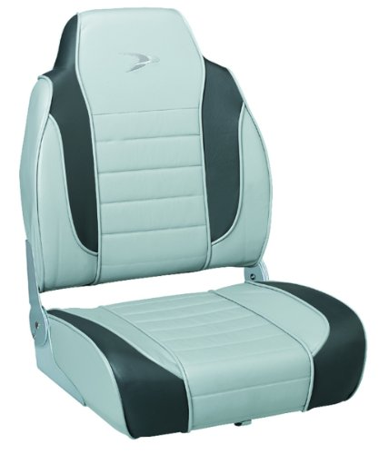 Wise Premium Stripe High Back Boat Seat, Marble