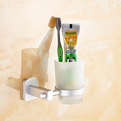 SYDLJ Espacio único de aluminio taza taza portavasos Bluetooth cepillo de lavado taza taza taza de