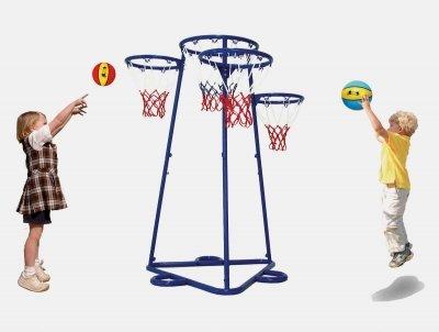 Kids Fun Sports Activity Equipment Multiple-target Multiple-target Multiple-target Post Stand Basketball Trainer 8c7ea6