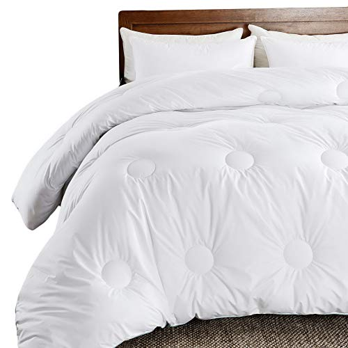 Hemau Premium New Soft Down Duvet Insert - Down Alternative Comforter White Plush Microfiber Fiberfill, Quilted Comforter with Corner Tabs, Circle Quilted (King Size) | Style -