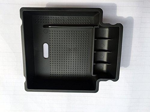 Caja de almacenamiento Apoyabrazos Consola central secundaria bandeja para Porsche Macan 2014 2015 2016 coche accesorios