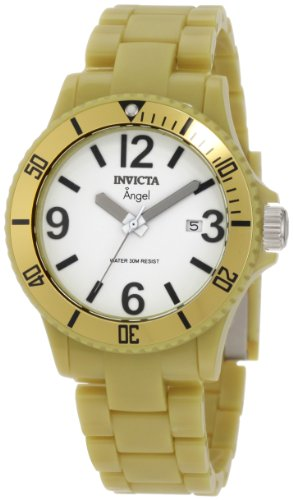 Invicta Women's 1214 Angel White Dial Green Plastic Watch