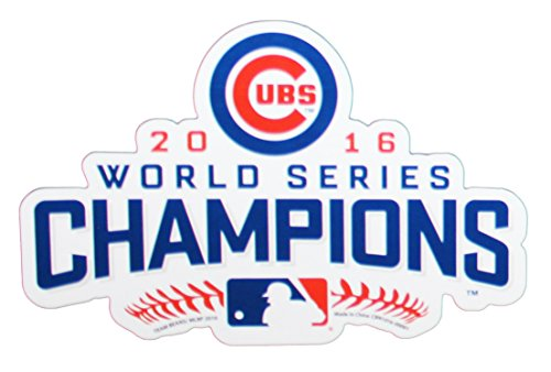 FOCO MLB Chicago Cubs 2016 World Series Champions Magnet Sports Fan Home Decor, Blue, 6
