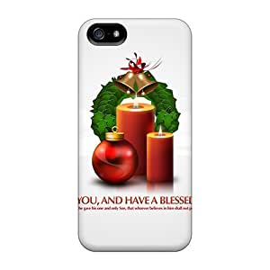 Durable God Bless You Christmas Presents Back Case/cover For Iphone 5/5s