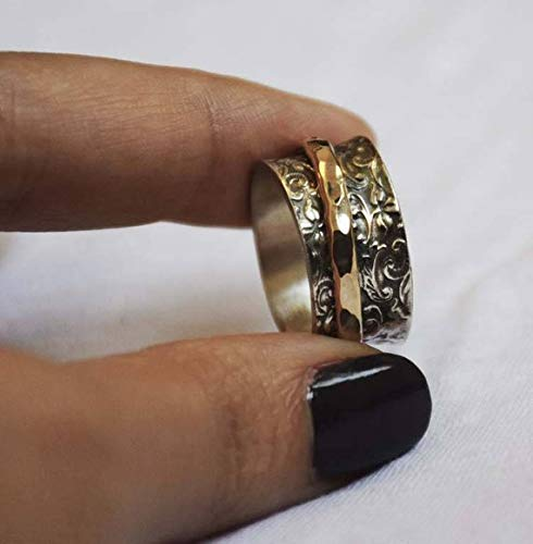 Details about  /925 Sterling Silver Spinner Ring Meditation Handmade Women Jewelry All Size A241