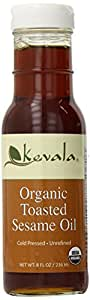 Kevala Organic Toasted Sesame Oil, 8 Ounce