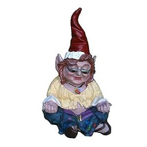 """nowaday gnomos–la 60de Janice """"pollito"""" Flores niño hippie Zen Gnome Home & Garden Gnome Estatua 10""""H"""