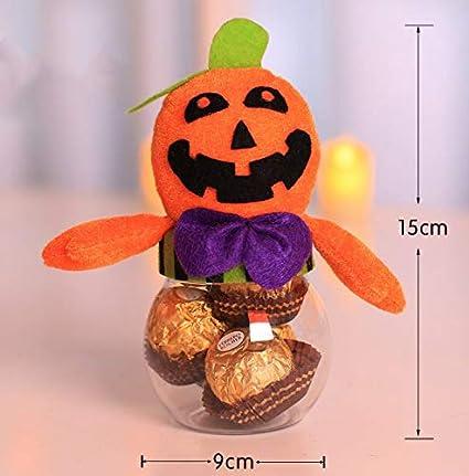 Gwill Halloween Candy Jar Bat Chat Noir Sorcière Citrouille