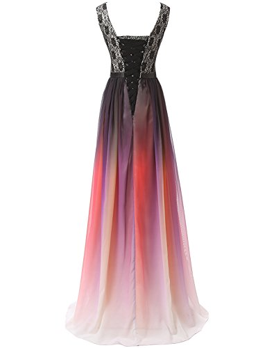 Clearbridal Farbverlauf Damen Kleid SD342 Bandage UK14 Abendkleid Chiffon Formale Brautjungfer Maxikleid xRpdrIpq