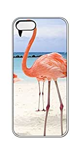 TUTU158600 Custom made Case/Cover/skin phone case iphone 5s with screen protector - Real flamingo pattern