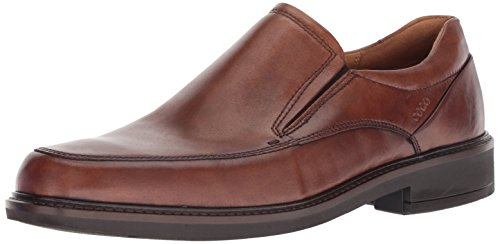 ECCO Men's Holton Apron Toe Slip On Loafer, Amber, 9-9.5 US (Mens Shoes Ecco Brown)
