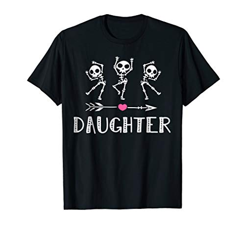 Awesome Skeleton Gift Daughter Halloween ideas T-shirt -