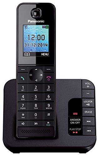 Panasonic KX-TGH220 Digital Cordless Phone with Colour LCD - Black
