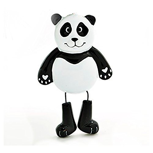 (Personalized Forest Animals Christmas Ornament for Tree 2018 - Cute Black White Panda Dangling Legs - Zoo Collection Adventure Toys Kingdom Costume Africa Nursery Bear - Free Customization by)