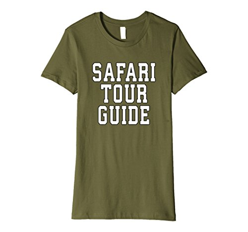 Womens Safari Tour Guide Halloween Novelty T-Shirt for Adults, Kids Small Olive