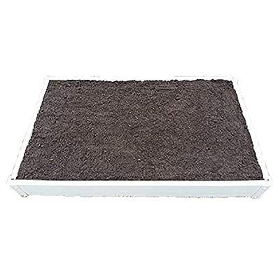 Handy Bed 3 x 4 Stack-able, White, Vinyl, Raised Garden Bed : Garden & Outdoor
