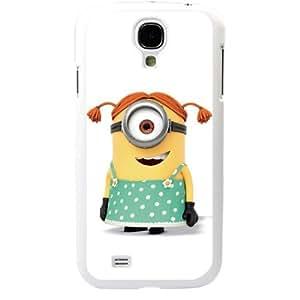 Despicable Me Minions Samsung Galaxy S4 SIV I9500 TPU Soft Black or White case (White)
