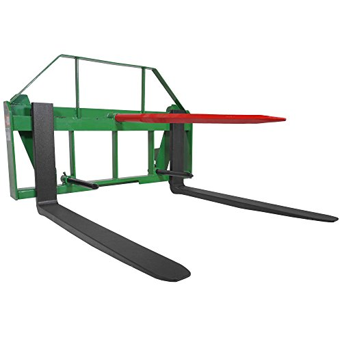 John Deere Global Euro 42'' Pallet Fork Hay Bale Spear Attachment Front Loader by Titan Attachments