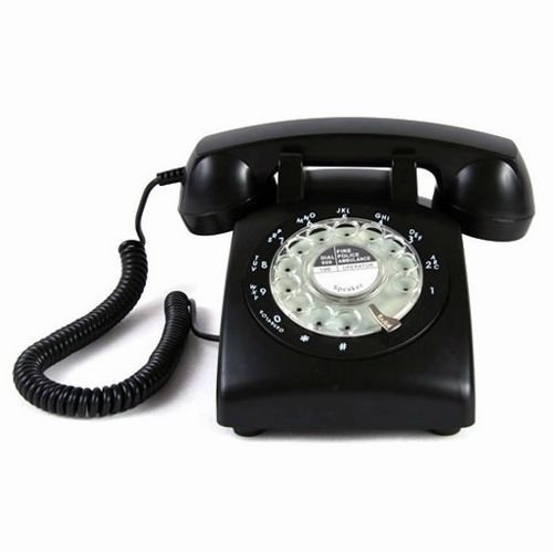Black Color Vintage 1970's STYLE ROTARY Retro old fashioned Rotary Dial Home Telephone (Style Telephone)